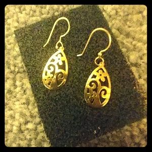 Sundance Earrings by Jes MaHarry Gold Flats